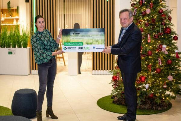 Confederatie Bouw Limburg en Jong CBL zamelen €5000 euro in voor het Kinderarmoedefonds
